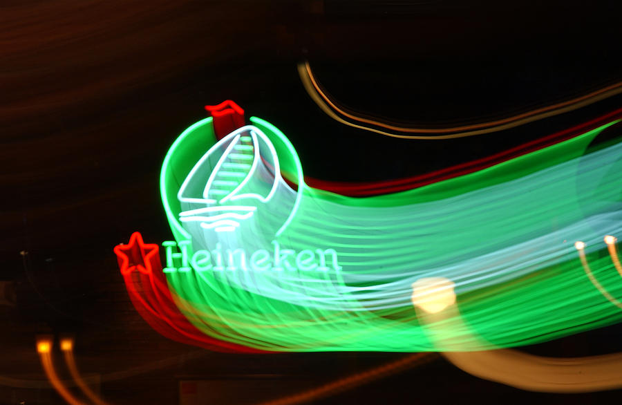 Heineken Photograph - Green Meany by Victor Rugg