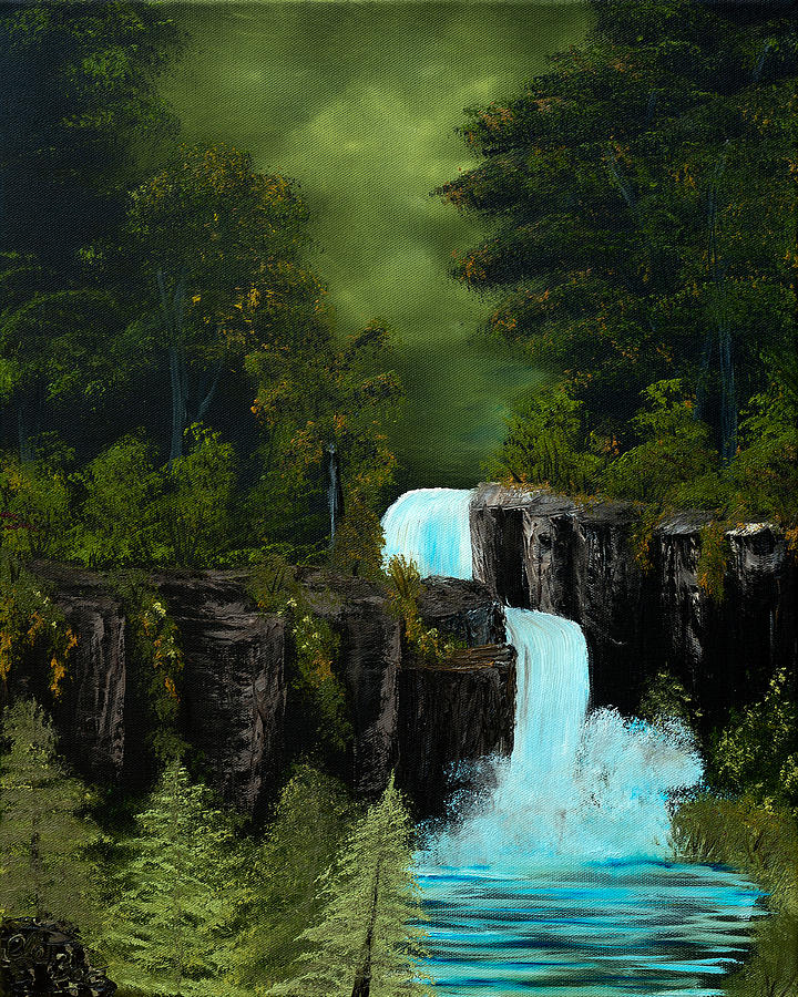 Mist Painting - Green Mist Fantasy Falls  by Claude Beaulac