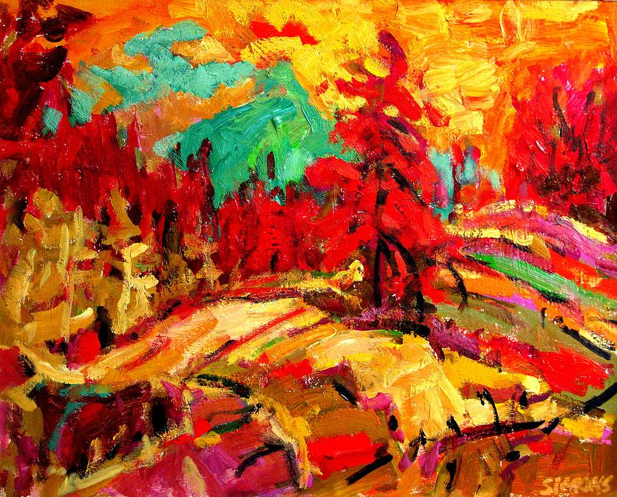 Landscape Paintings Painting - Green Mountain by Brian Simons