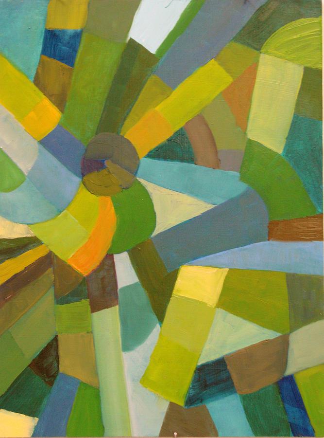 Green Painting - Green Pallette by Art Nomad Sandra  Hansen