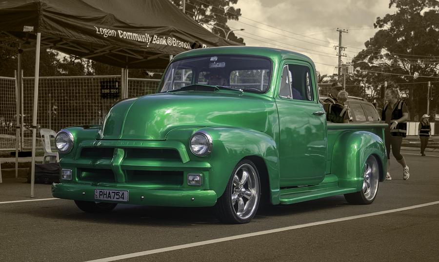 Green Pickup Photograph
