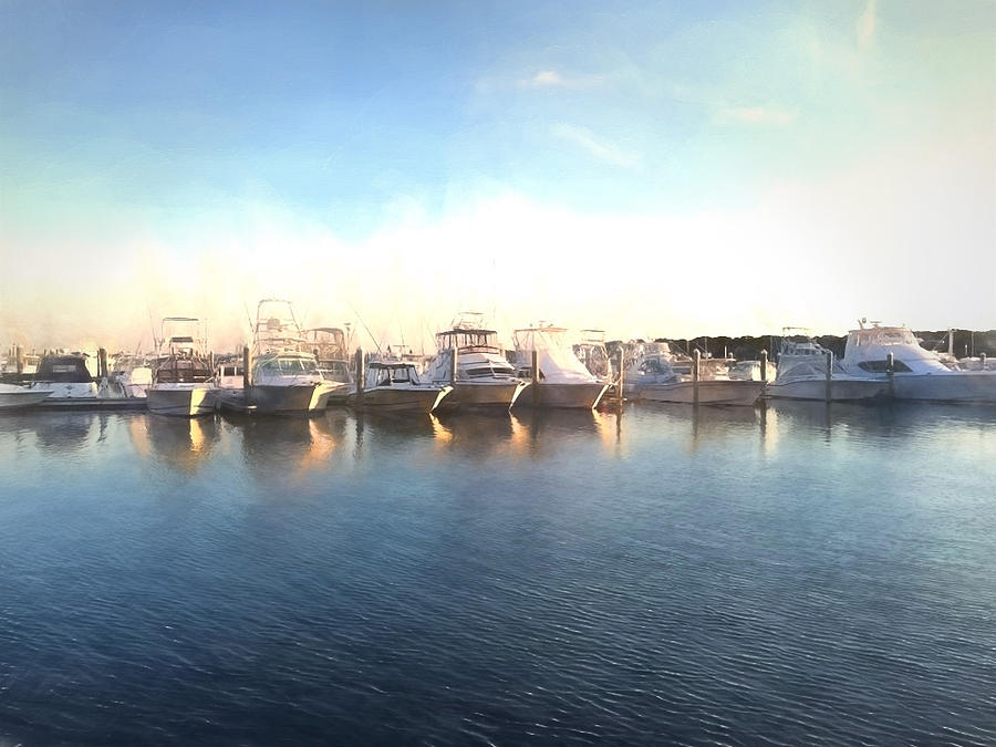 Harbor Photograph - Green Pond Harbor by PepperMillPatty Photography