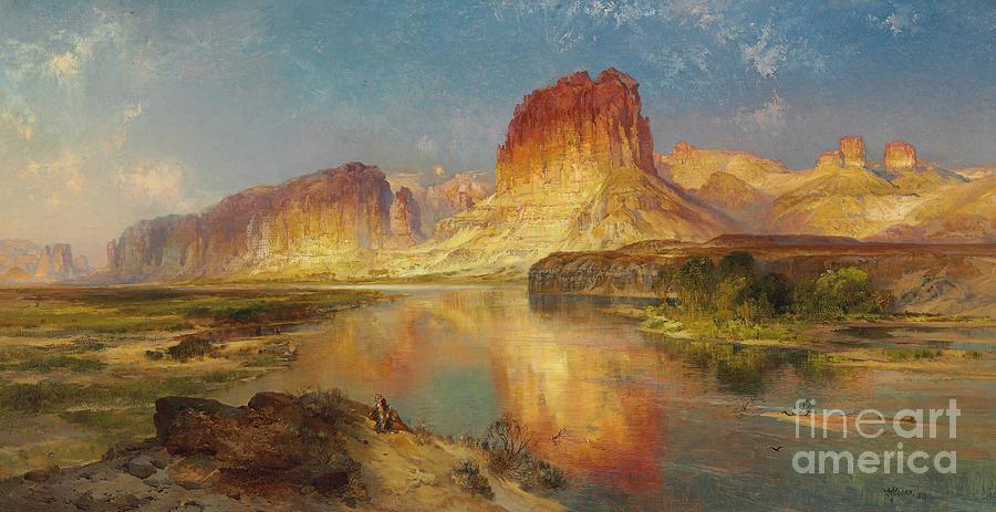 Thomas Moran Painting - Green River Of Wyoming by Thomas Moran