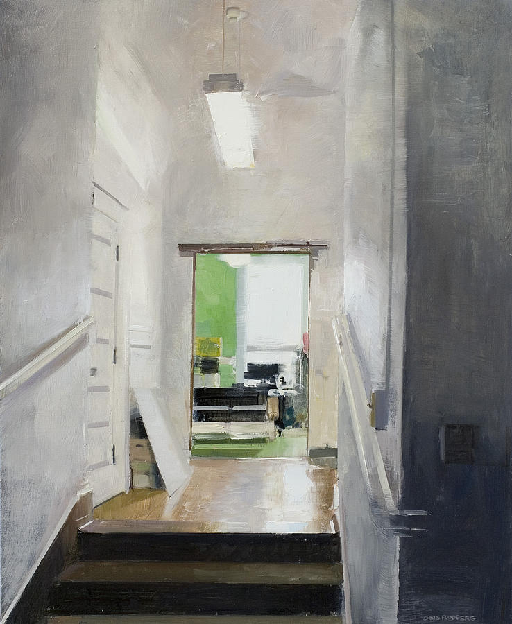Home Painting - Green Room by Chris Flodberg