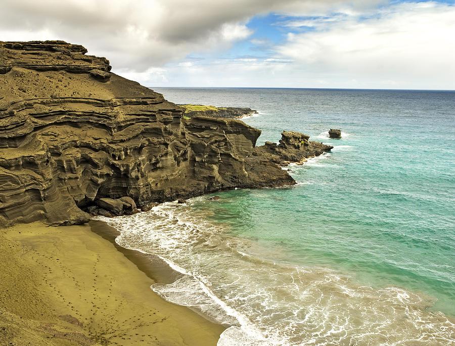Green Sand Beach Photograph - Green Sand Beach On Hawaii by Brendan Reals
