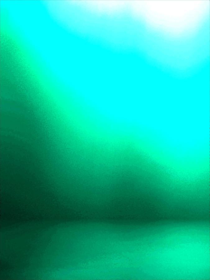 Seafoam Mixed Media - Green Seas 5 Enhanced by Patricia A Williams