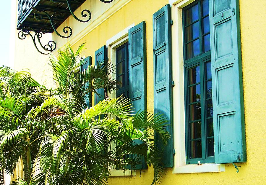 Architecture Photograph - Green Shutters by Debbi Granruth