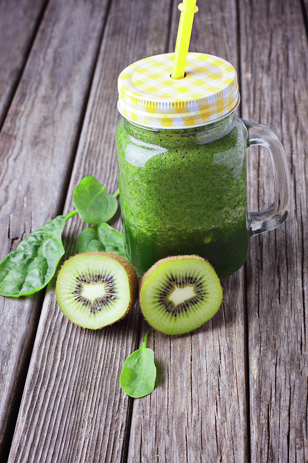 Background Photograph - Green Smoothie by Tatiana Frank