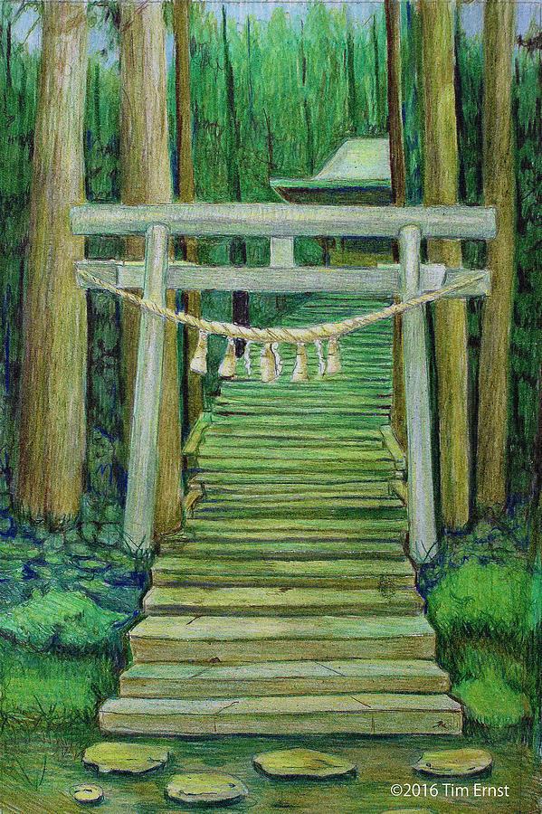 Green Stairway by Tim Ernst