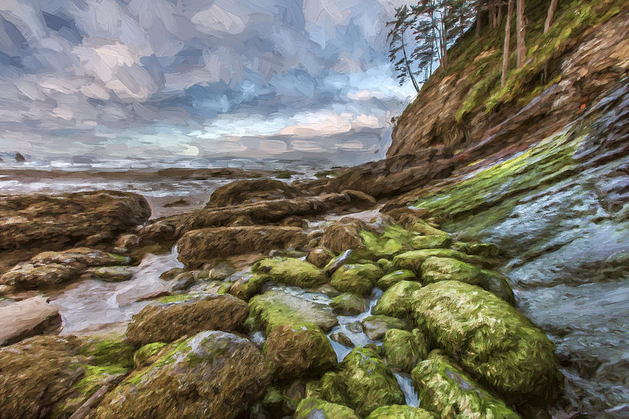 Artwork Digital Art - Green Stone Shore II by Jon Glaser
