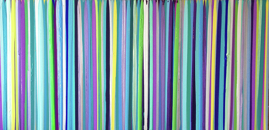 Green Stripe Painting - Green Stripe by Margalit Romano