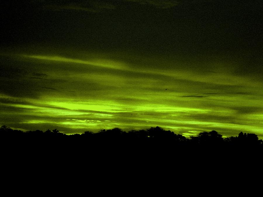 Photo Photograph - Green Sunset by Kevin Steven