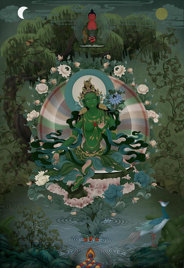 Green Tara Digital Art By Ben Christian