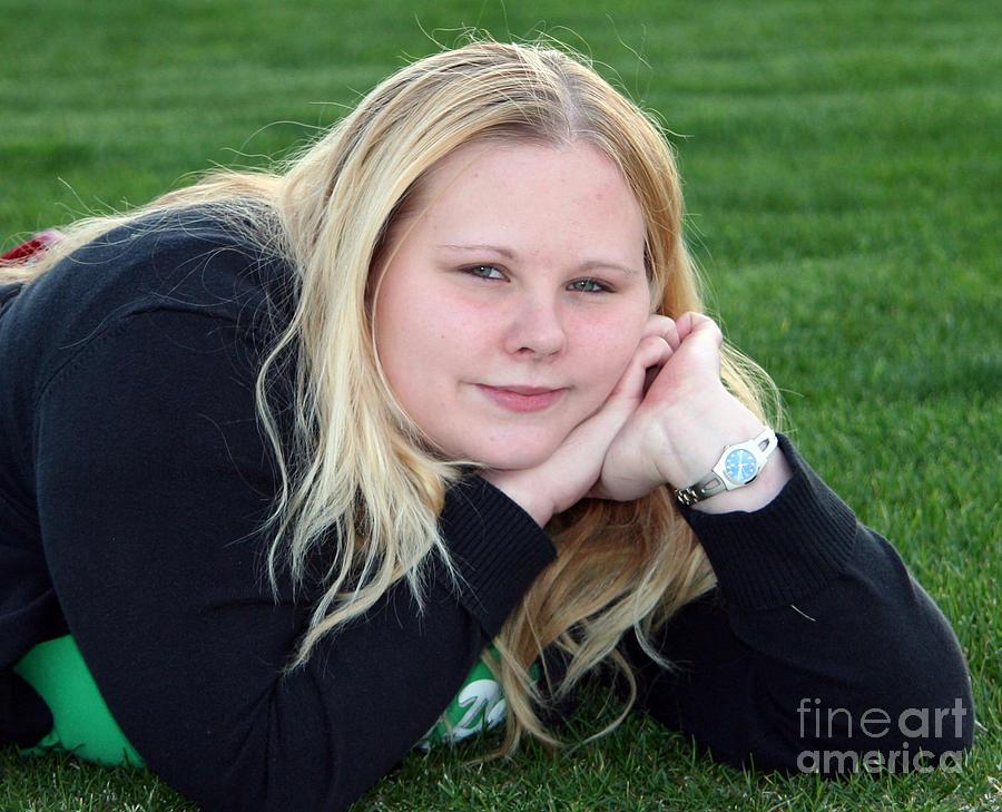 Female Photograph - Green by Timothy Winiarski