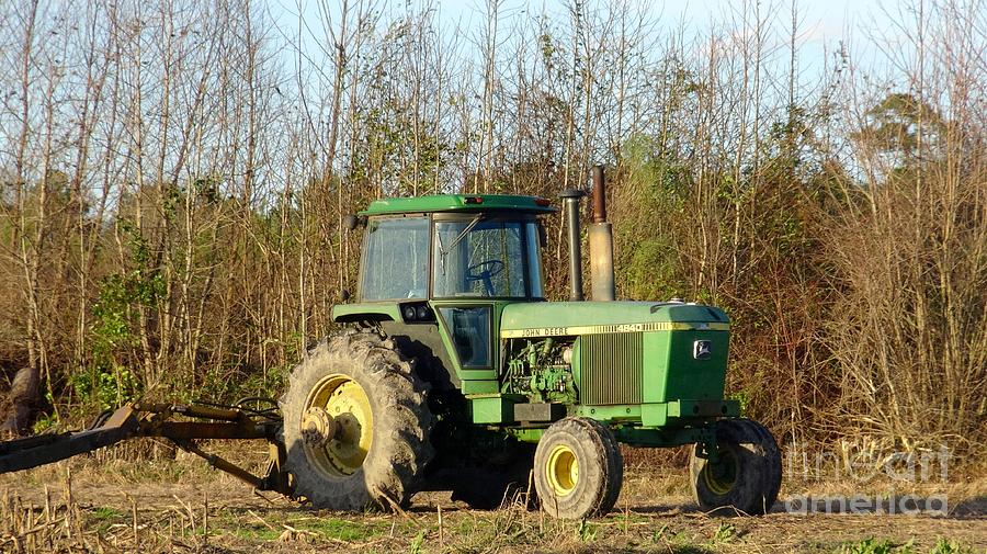 Landscape Photograph - Green Tractor by Karen Francis