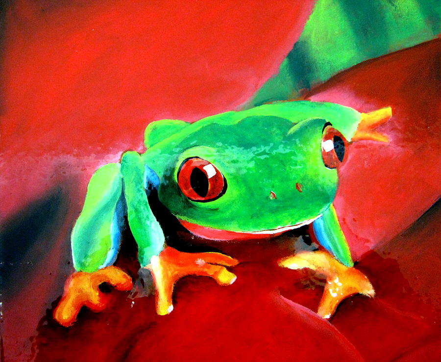Acrylic Paintings Of Frogs