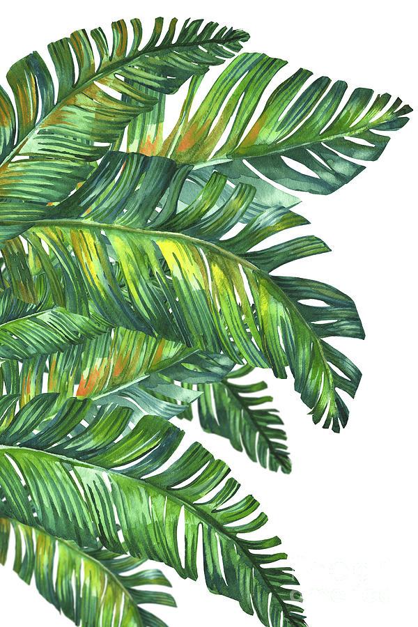 Summer Digital Art - Green Tropic  by Mark Ashkenazi
