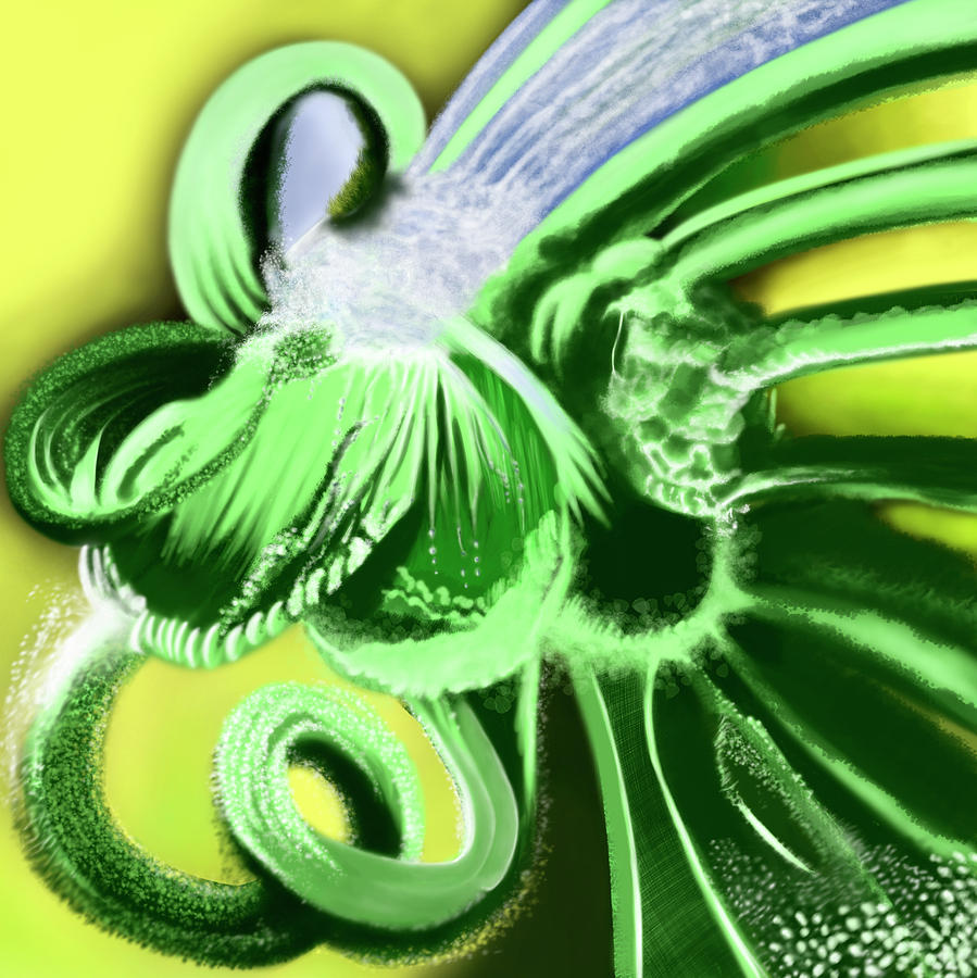 Digital Painting Digital Art - Green Valley by Emiliano Trevisano