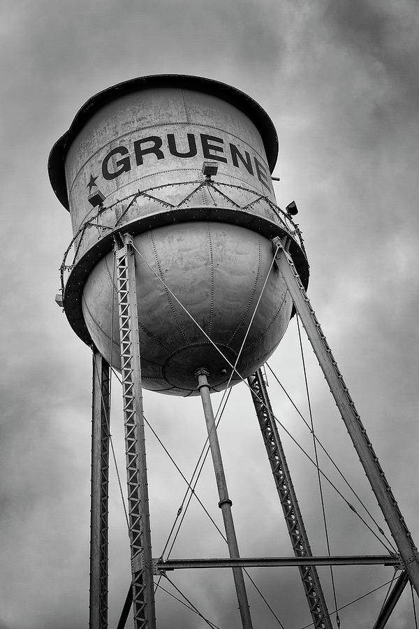 Gruene Photograph - Gruene Water Tower by Stephen Stookey