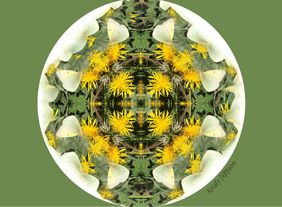 Green Yellow Kaleidoscope by Kristy Jeppson
