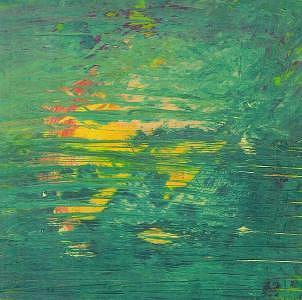 Green  Yellow Striations Painting by Billie J  Sullivan