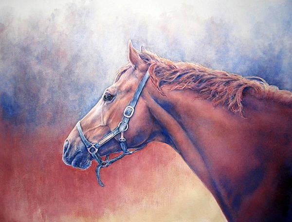 Horse Painting - Greener Grass by Barbara Widmann