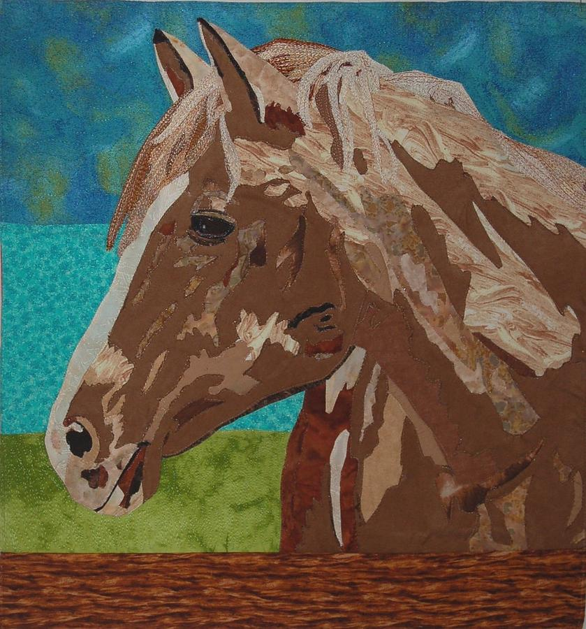 Horse Tapestry - Textile - Greener Pastures by Dolores Fegan