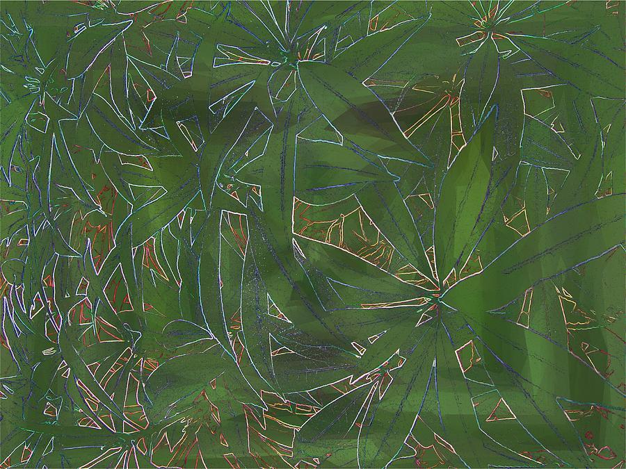 Greenery Digital Art - Greenery In Green by Tim Allen