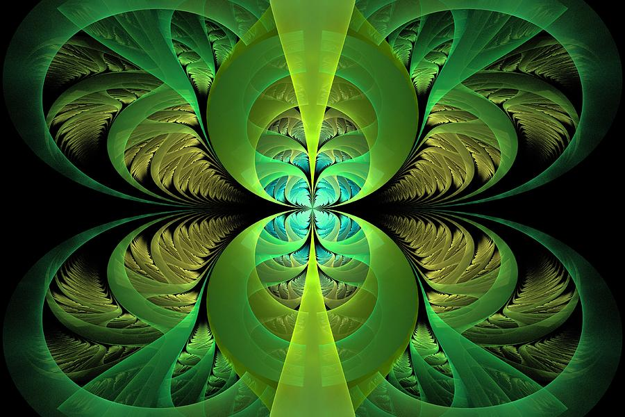 Abstract Digital Art - Greenery by Lyle Hatch