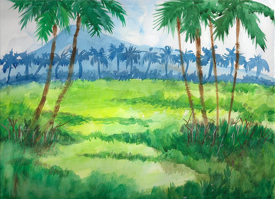 Landscape Painting - Greenery by Prashant Dhavse