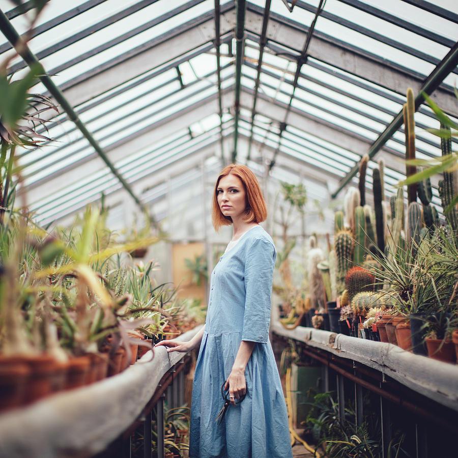 Girl Photograph - Greenhouse by Dasha Pears