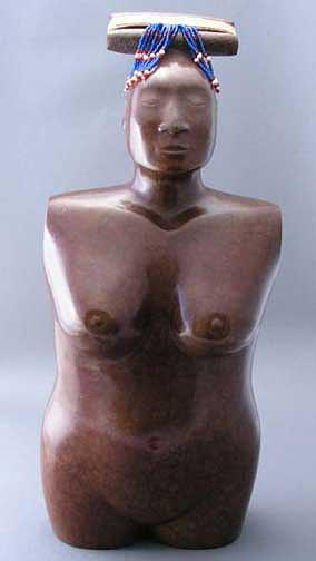 Greenlandic Woman Sculpture by Lawrence Ahvakana