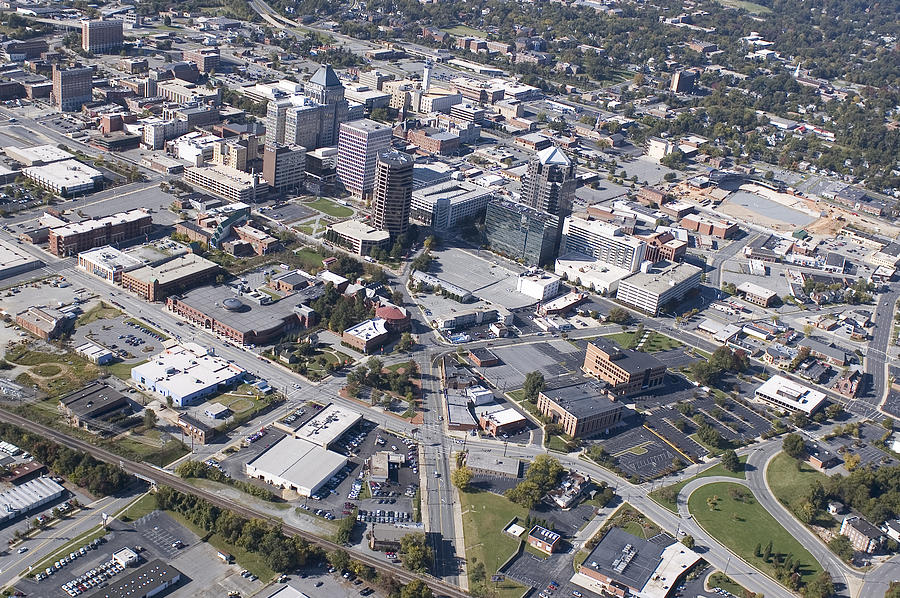 Greensboro Photograph - Greensboro Aerial by Robert Ponzoni
