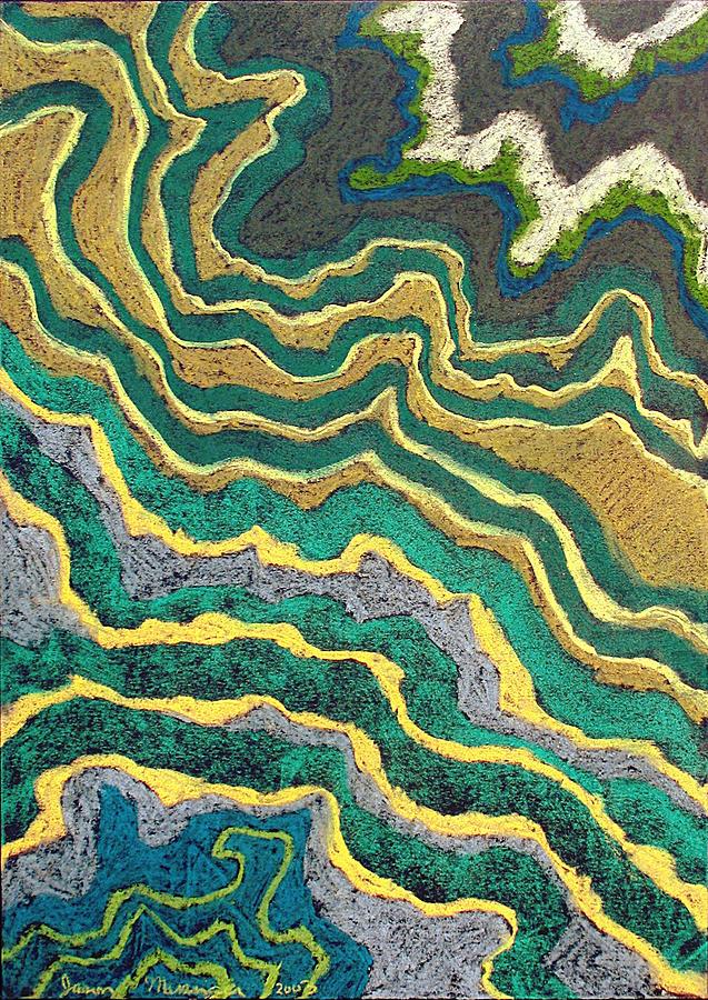 Landscape Pastel - Greenscape C by Jason Messinger