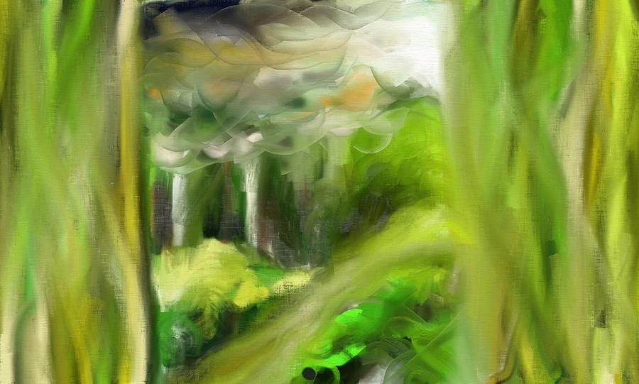 Tree Painting - Greeny by Kevin Steven