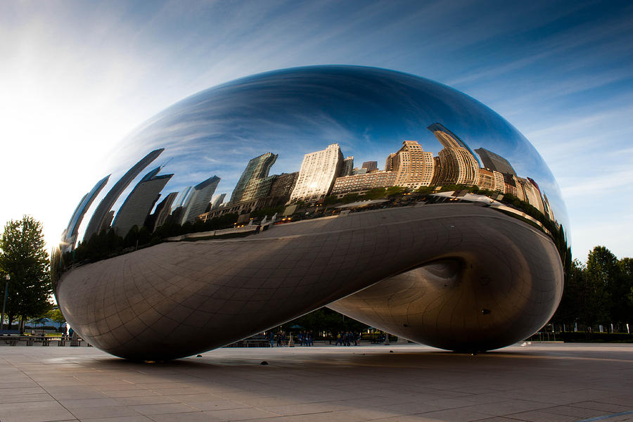 Chicago Photograph - Greeting The Sun by Daniel Chen