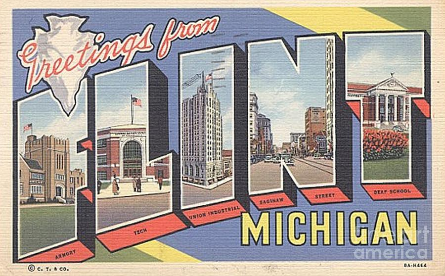Greetings from flint michigan painting by positively flint flint michigan painting greetings from flint michigan by positively flint m4hsunfo