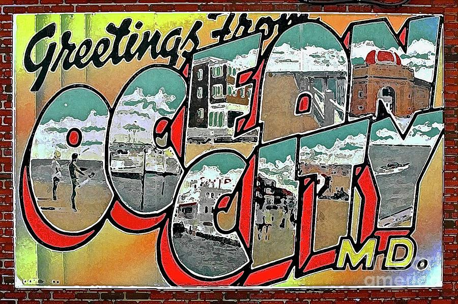 Ocean City Md Photograph - Greetings From Ocean City by Anthony Pelosi