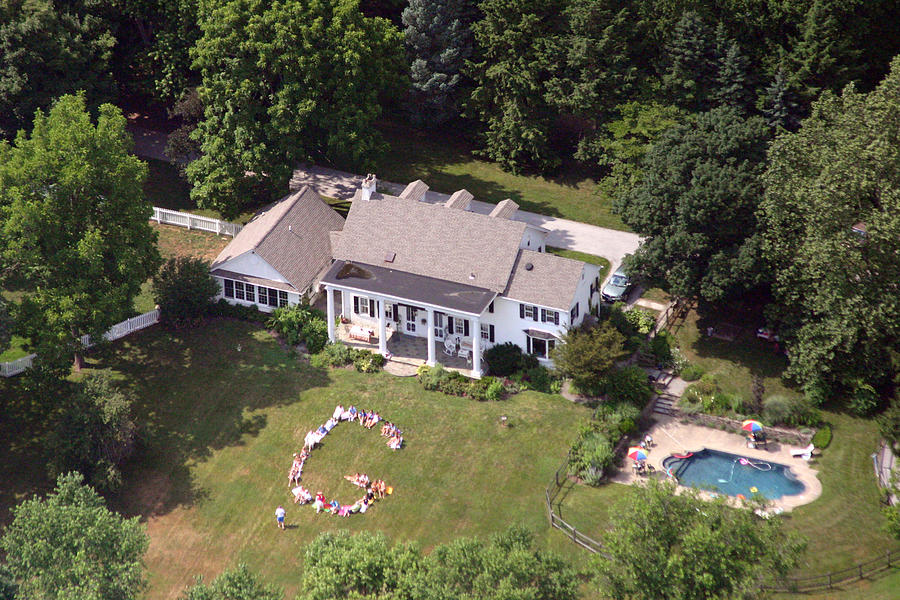 Aerial Photograph - Gregory 4th Of July by Duncan Pearson