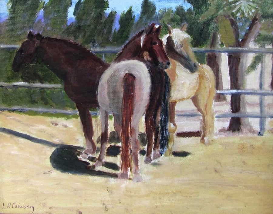 Gregory and his mares by Linda Feinberg