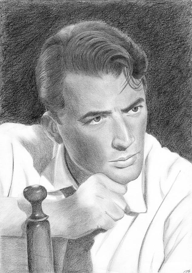 Gregory Peck Drawing - Gregory Peck by Eniko Tanyi