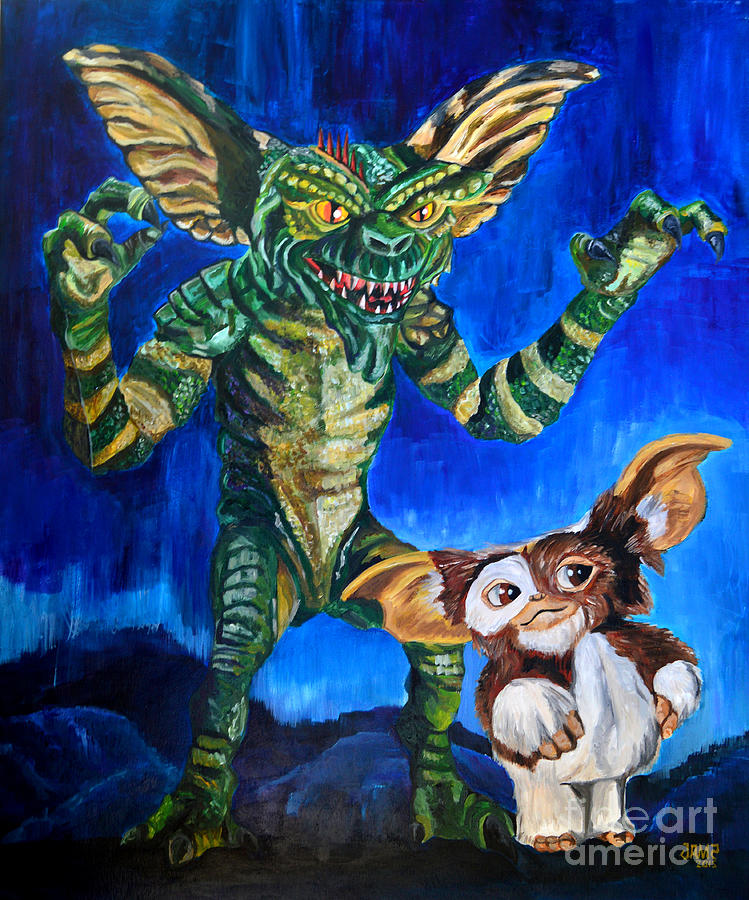 gremlins painting by jose mendez