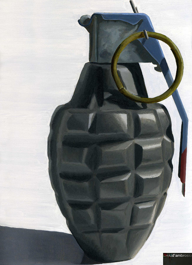 Grenade Painting - Grenade by David DAmbrosio