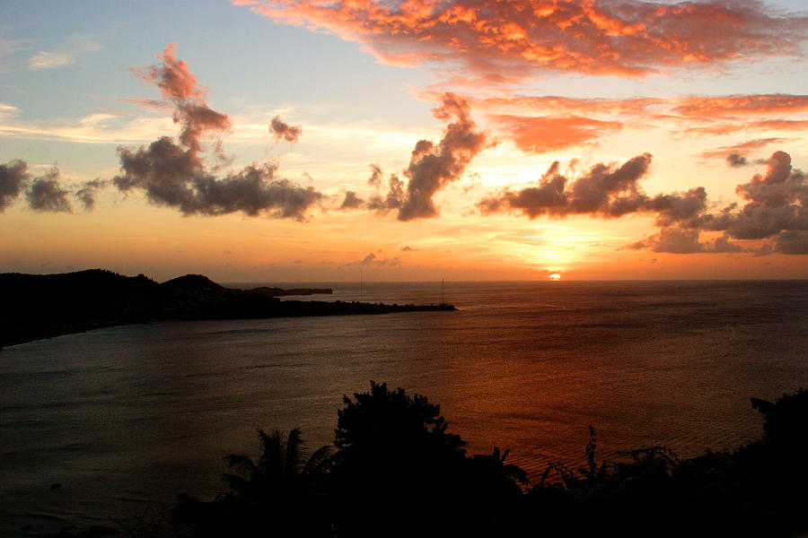 Sunset Photograph - Grenadian Sunset  II by Jean Macaluso