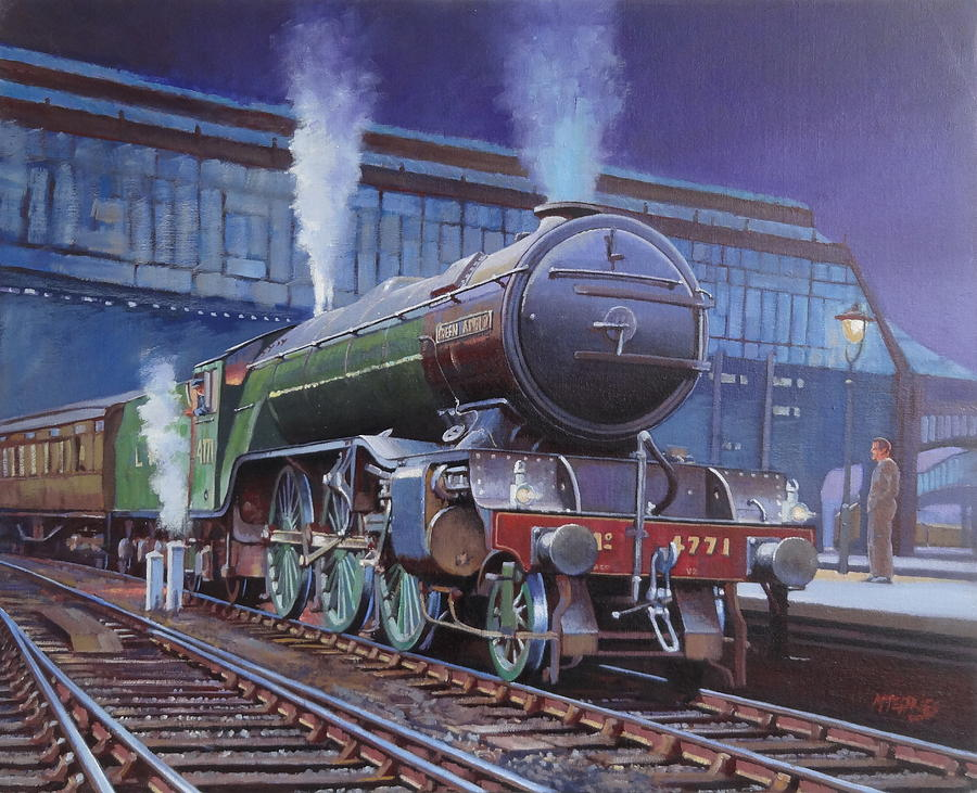 Steam Painting - Gresley Green Arrow Class. by Mike Jeffries