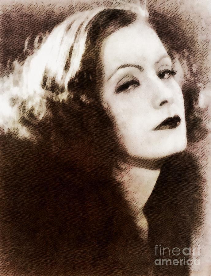 Greta Garbo, Vintage Actress By John Springfield Painting