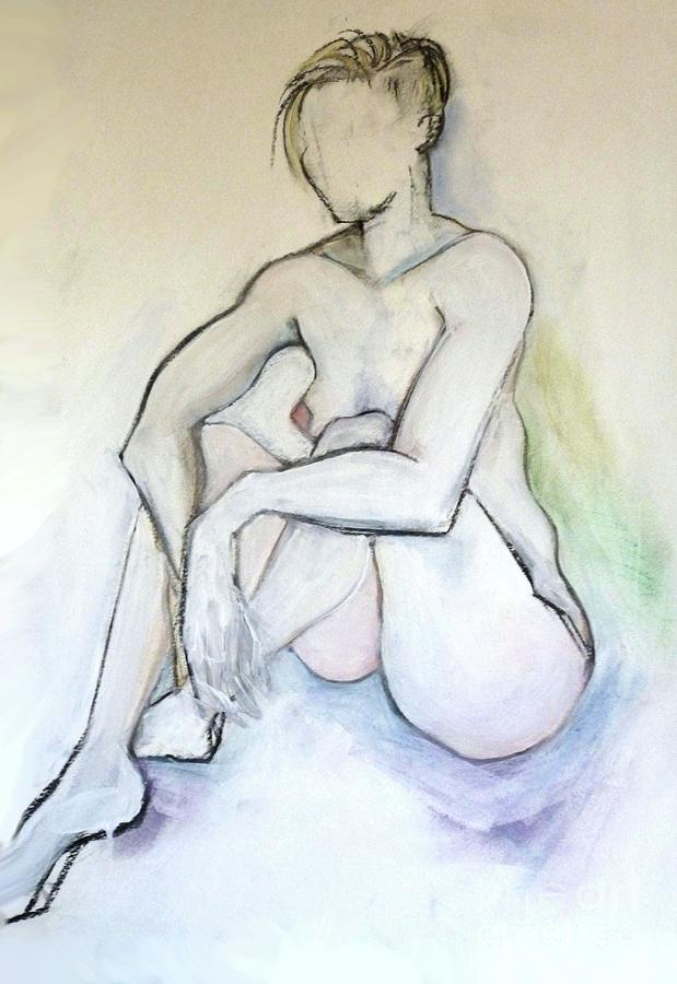 Female Nude Pastel - Gretchen - Female Nude Drawing by Carolyn Weltman