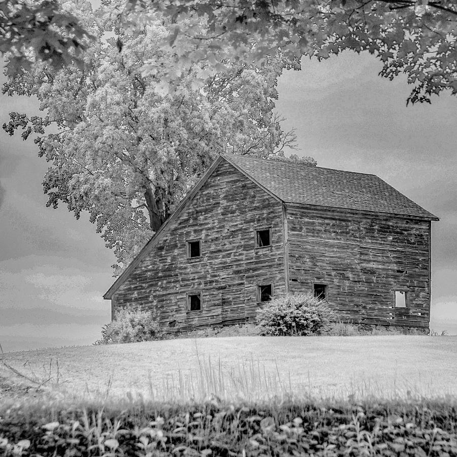 Grey Barn On A Grey Day Photograph by Kendall McKernon