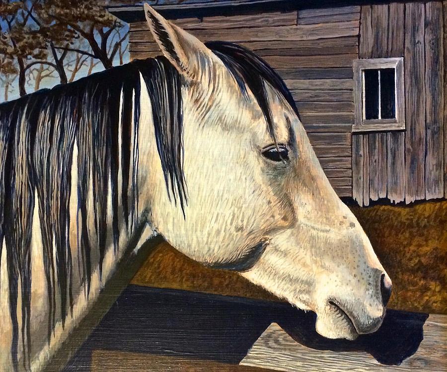 Grey Painting - Grey Boy by Bern Miller