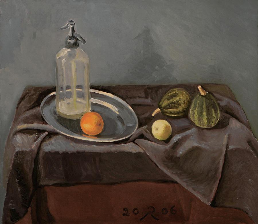 Grey Day Painting by Raimonda Jatkeviciute-Kasparaviciene